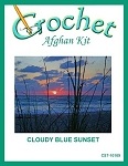Cloudy Blue Sunset Crochet Afghan Kit