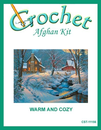Warm And Cozy Crochet Afghan Kit