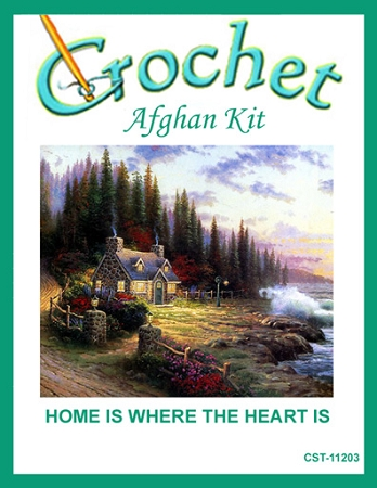 Home Is Where The Heart Is Crochet Afghan Kit