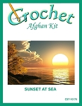 Sunset At Sea Crochet Afghan Kit