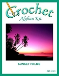 Sunset Palms Crochet Afghan Kit