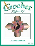 Coyote Emblem Crochet Afghan Kit