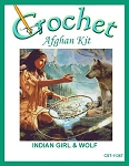 Indian Girl & Wolf Crochet Afghan Kit