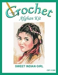 Sweet Indian Girl Crochet Afghan Kit