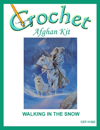 Walking In The Snow Crochet Afghan Kit