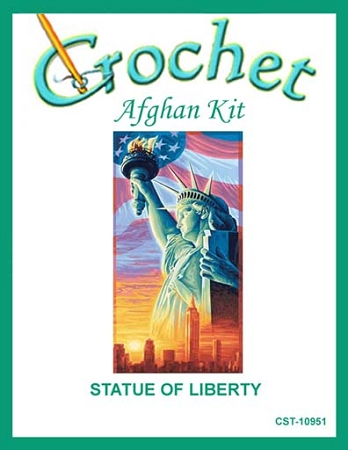 Statue Of Liberty Crochet Afghan Kit