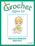 Precious Moments Baby Boy Crochet Afghan Kit