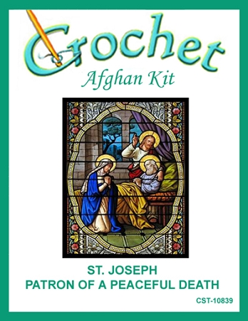 St. Joseph - Patron Of A Peaceful Death Crochet Afghan Kit