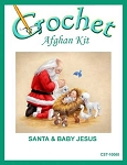Santa and Baby Jesus Crochet Afghan Kit