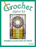 Stained Glass Star of David Crochet Afghan Kit