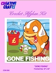 Gone Fishing Crochet Afghan Kit