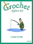 I Love To Fish Crochet Afghan Kit