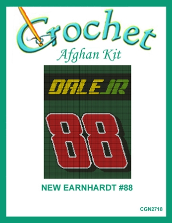 New Earnhardt #88 Crochet Afghan Kit