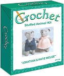Jonathan & Katie Mouse Stuffed Animal Crochet Kit