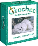 Snowball The Baby Seal Stuffed Animal Crochet Kit
