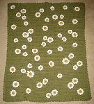 Crazy Daisy Baby Hand Made Afghan