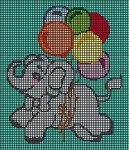 Cute Elephant With Balloons Crochet Pattern