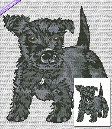 Russian Terrier Crochet Pattern