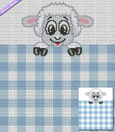 Gingham Baby Lamb Crochet Pattern