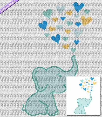 Elephant Love Crochet Pattern