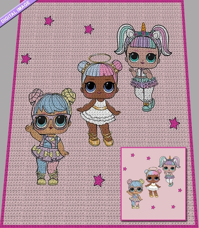 LOL Girls Crochet Pattern