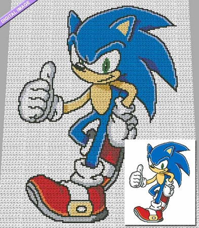Sonic the Hedgehog Crochet Pattern