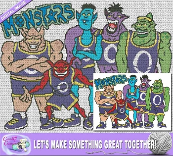 Space Jam Monsters Crochet Pattern