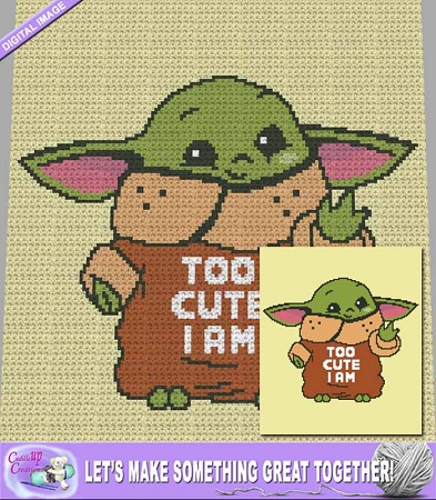 Too Cute I Am Crochet Pattern
