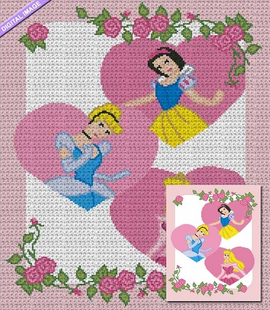 Princess Throw Crochet Pattern