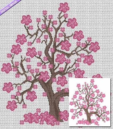 Cherry Blossom Tree Crochet Pattern
