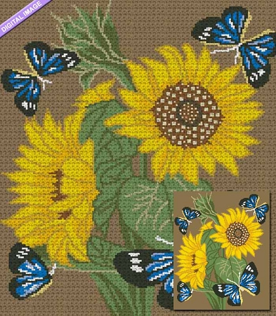 Sunflower Butterflies Crochet Pattern