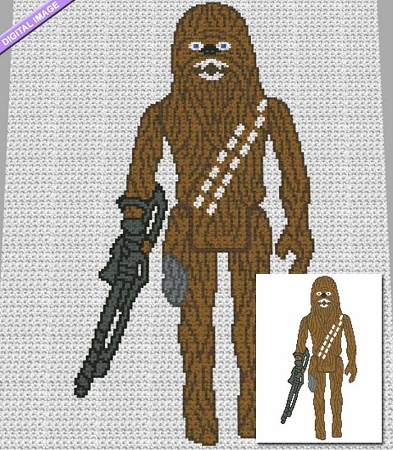 Chewbacca Action Figure Crochet Pattern