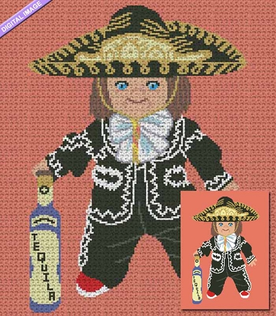 Mexican Chucky Crochet Pattern