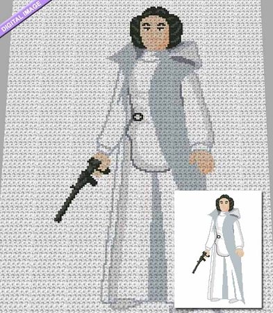 Princess Leia Action Figure Crochet Pattern