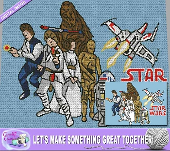 Star Wars Picture Crochet Pattern