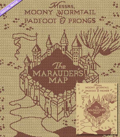 The Marauder's Map Crochet Pattern