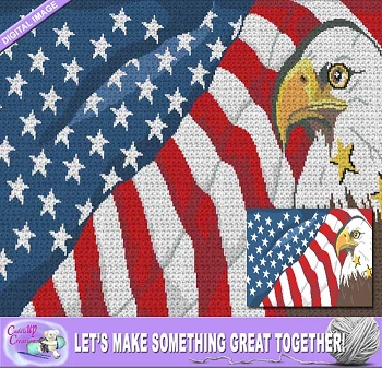 American Eagle Flag Crochet Pattern