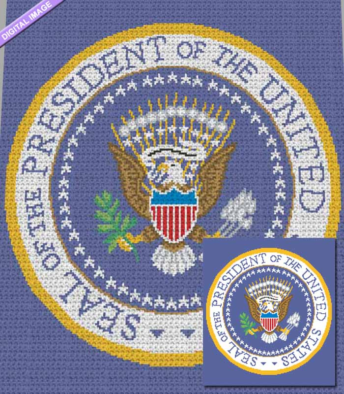 The Presidential Seal Crochet Pattern