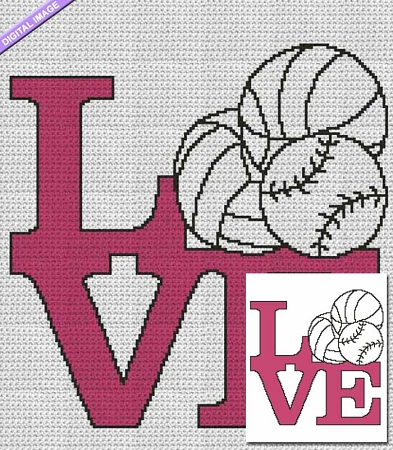 Love Sports Crochet Pattern