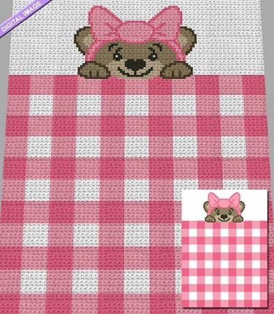 Gingham Teddy Bear Crochet Pattern