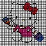Hello Kitty Painting Crochet Pattern