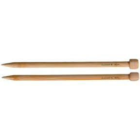 "Clover Bamboo Single Point Knitting Needles 13"" – 14"" Size - 15"