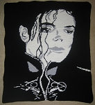 Michael Jackson Portrait Hand Made Afghan