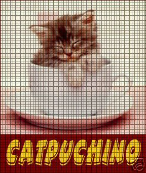 Catpuchino Crochet Pattern