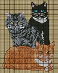 The Three Cats Crochet Pattern