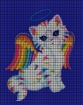 Colorful Angel Kitty Crochet Pattern