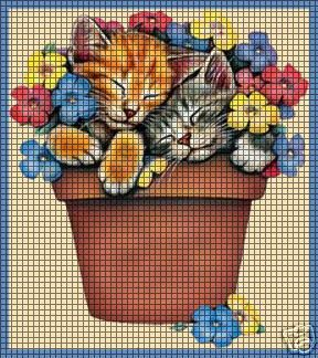 Flower Kittens Crochet Pattern