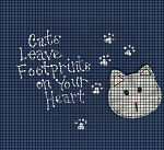 Footprints Cat Crochet Pattern