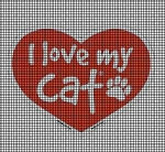 I Love My Cat Crochet Pattern