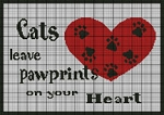 Pawprints On Your Heart Crochet Pattern
